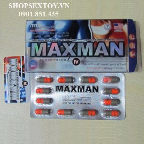 TH25- Thuốc hỗ trợ sinh lý nam Maxman 3800mg